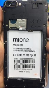 Mione R3 Flash File Without Password