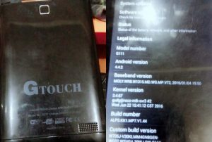 Gtouch G111 Flash File